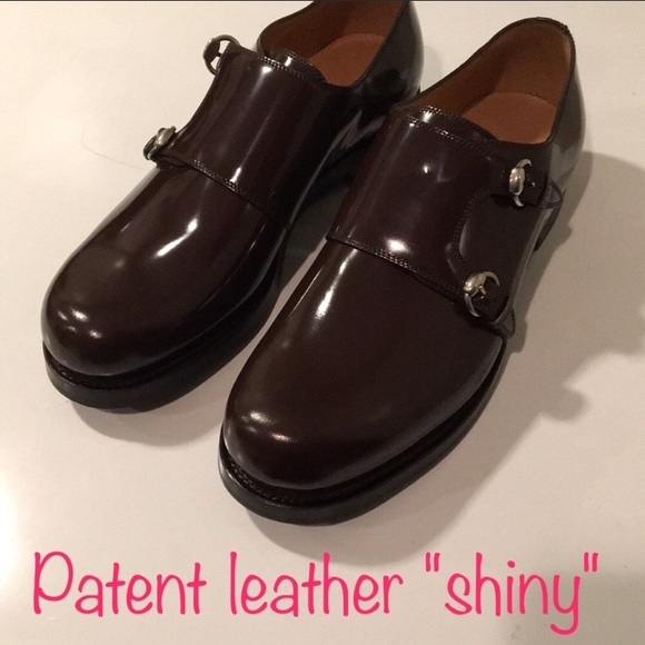 2fbf7332d1d ❤️New GUCCI Patent Leather Monk strap oxford 8.5